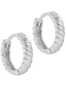 Cercei argint 925 - Classic Silver Hoop
