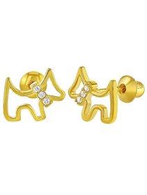 Cercei argint 925 - LOvely Puppy - pentru fete si bebelusi