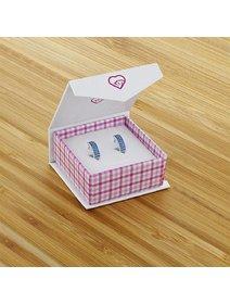 Cercei argint 925 - Pink HUGGIE HOOP