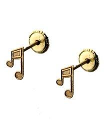 Cercei aur 14k, pentru copii, Nota Muzicala