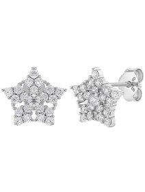 Cercei copii, din argint 925, cu micro-cristale Cubic Zirconia - Shiny Little Star