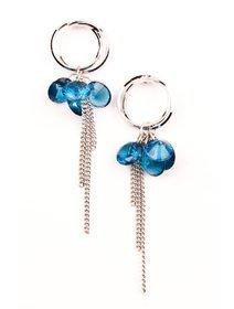 Cercei cu cristale fashion albastre