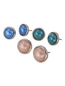 Cercei cu perle fashion culoare bej