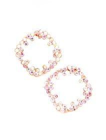 Cercei cu pietre fashion multicolore