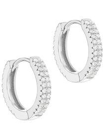 Cercei dama, din argint 925 cu cristale CZ - Clear Simulated Diamonds