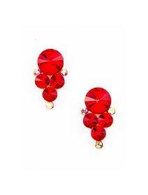 Cercei fashion cu cristale rosii