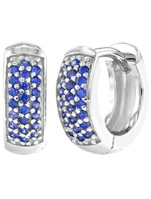 Cercei fata, din argint 925 cu cristale albastre