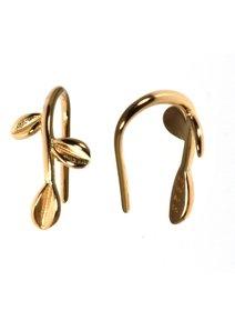 Cercei IJOO, din argint 925 placat cu aur, Gold Leaf