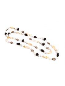 Colier cu perle de cultura si pietre semipretioase
