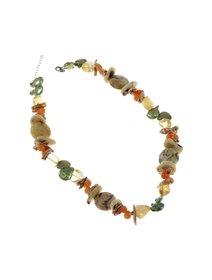 Colier IJOO cu perle de cultura si pietre semipretioase