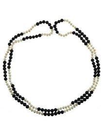 Colier - mix de perle de cultura si agate negre