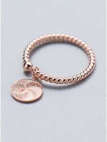 Inel IJOO, din argint 925 placat cu aur - Round Twist