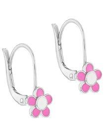 Set argint 925 pentru fete, cu tematica floare roz