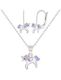 Set argint pentru copii cu tematica Unicorn