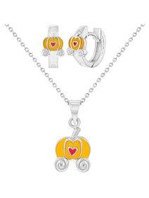 Set bijuterii argint 925, pentru copii, Trasura Dovleac