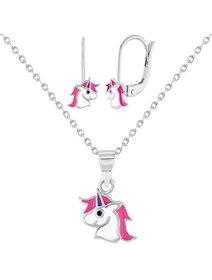 Set bijuterii argint pentru copii - Enamel Unicorn