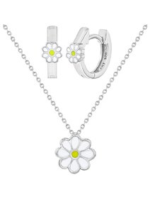 Set bijuterii copii, din argint 925, Happy Daisy