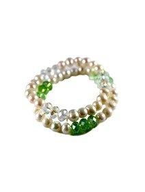 Set format din doua bratari cu perle de cultura si cristale