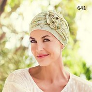 Turban Lotus print -Linen by Christine Headweare