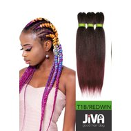 Extensii codite afro Waterfall braid 1B/redwine