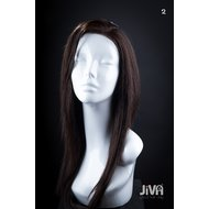 Peruca Naturala Pizzazz Swiss Net Lace wig Negru intens 1