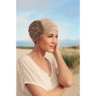 Turban AIMEE by Christine Headweare 535 TAUPE & GOLD