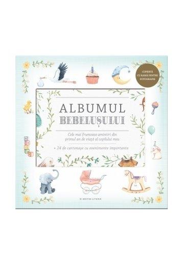 Albumul Bebelusului. Cele mai frumoase amintiri din primul an de viata al copilului meu + 24 de cartonase cu evenimente importante