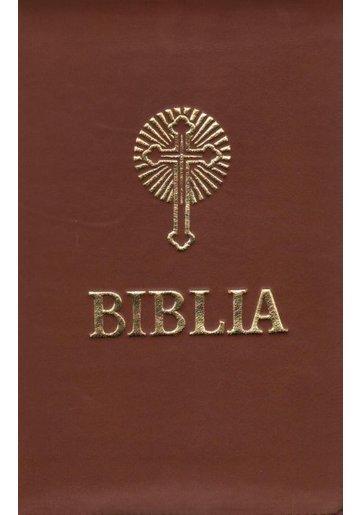 Biblia sau Sfanta Scriptura - Coperti din piele cu fermoar, aurie, format A5