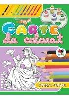 Carte de colorat pentru fetite (verde)