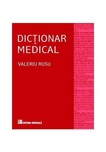 Dicţionar medical, Ediţia a IV-a revizuită şi adăugită