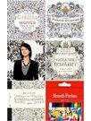 Pachet Carti de colorat pentru adulti Johanna Basford 4 Volume + Set 18 Creioane colorate