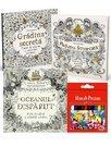Pachet Carti de colorat pentru adulti Johanna Basford + Set 12 Creioane colorate