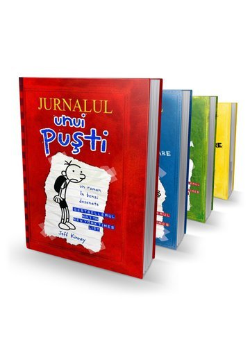 Pachet: Jurnalul unui pusti - Set 4 volume