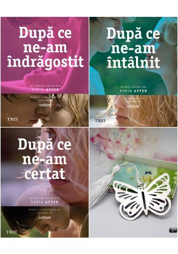 Pachet seria After de Anna Todd 3 Volume + Semn de carte Fluture