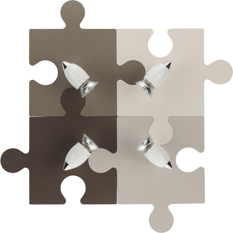 Aplica Puzzle Multi Brown