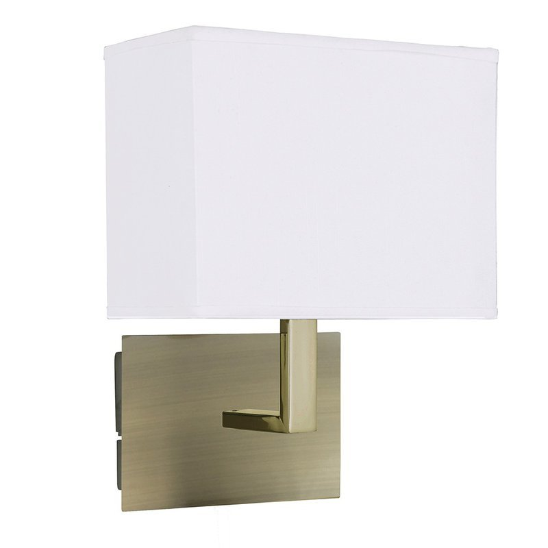Searchlight Aplica Wall Hotel Fabric Brass