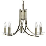 Candelabru Searchlight Ascona Brass V