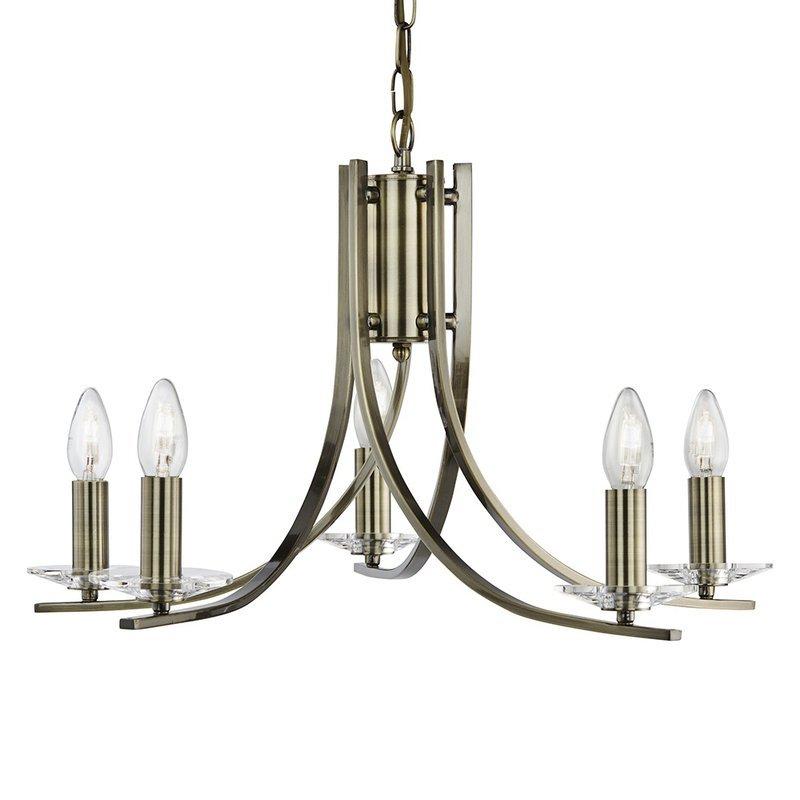Candelabru Searchlight Ascona Brass V luxuriante.ro 2021