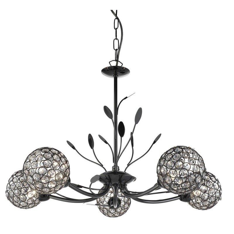 Candelabru Searchlight Bellis Black V luxuriante.ro 2021