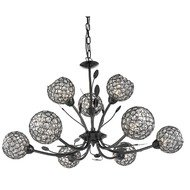 Candelabru Searchlight Bellis Black IX