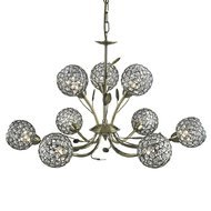 Candelabru Searchlight Bellis Brass IX