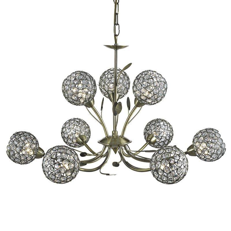 Candelabru Searchlight Bellis Brass IX luxuriante.ro 2021