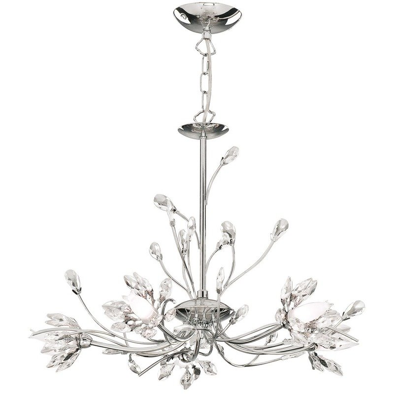 Candelabru Searchlight Hibiscus Chrome V luxuriante.ro 2021