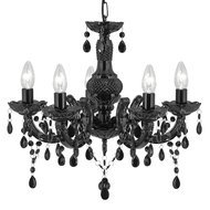 Candelabru Searchlight Marie Therese Black