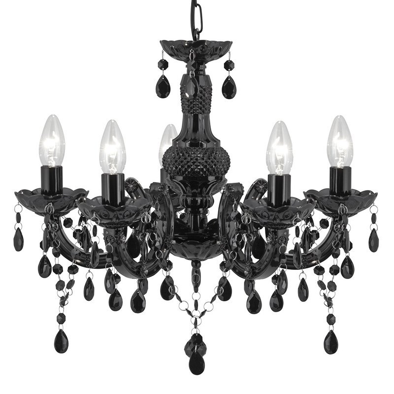 Candelabru Searchlight Marie Therese Black luxuriante.ro 2021