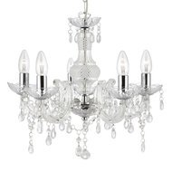 Candelabru Searchlight Marie Therese Clear