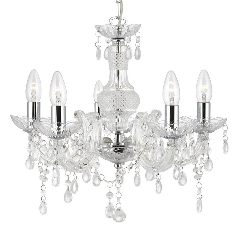 Candelabru Searchlight Marie Therese Clear luxuriante.ro 2021