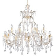 Candelabru Searchlight Marie Therese Gold XL