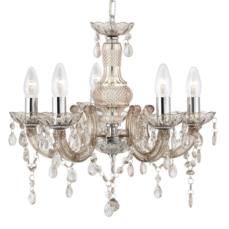 Candelabru Searchlight Marie Therese Mink luxuriante.ro 2021