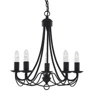 Candelabru Searchlight Maypole Black V